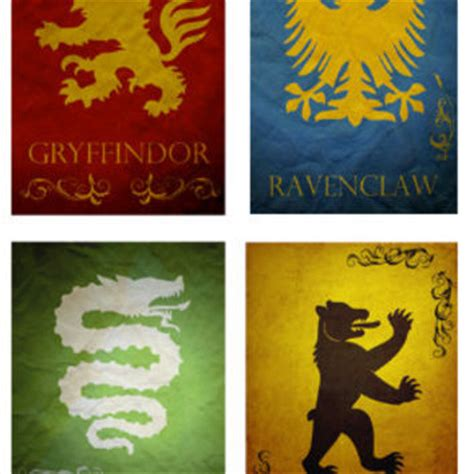 Sports Bathroom Accessories All 4 Harry Potter Hogwarts House Banners From