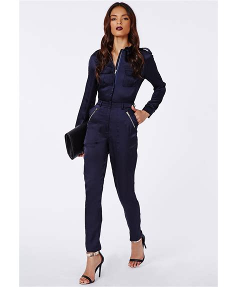 Sleeve Jumpsuit navy blue jumpsuit with sleeves clothing