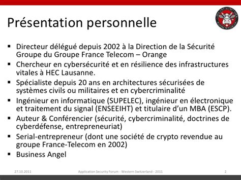Mba Ppt On Telecommunication Industry by Asfws 2011 Cyberguerre Et Infrastructures Critiques