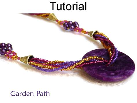 beaded path tutorials beading tutorial pattern necklace multi strand beaded