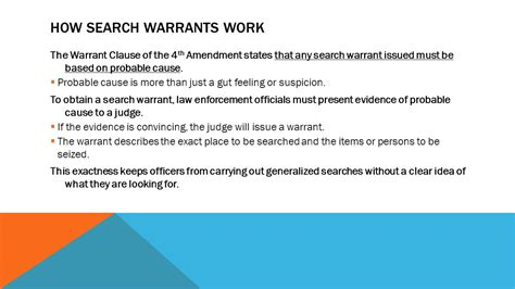 How To Obtain A Search Warrant Chapter 16 The Criminal Justice System Ppt