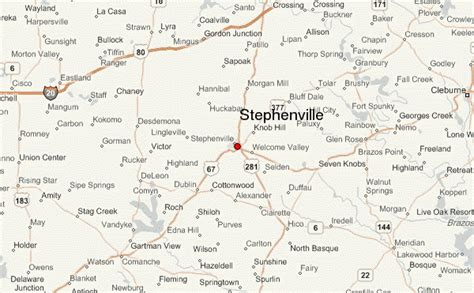 stephenville texas map stephenville texas location guide