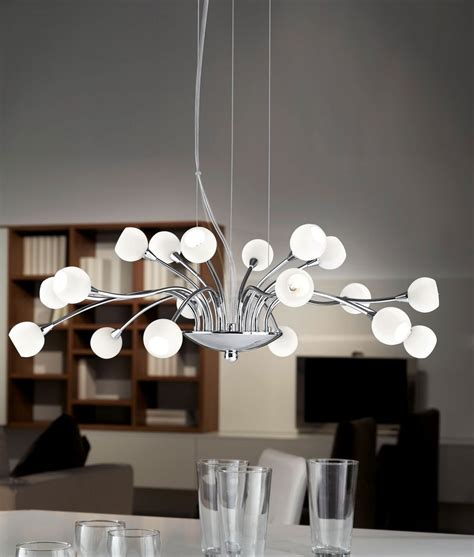 Modern Chandelier Uk 18 Light Modern Chandelier With Opal Or Glass Shades