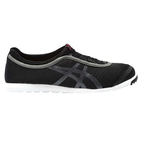 asics metro walk womens casual shoes black