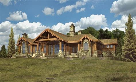 log home mansions log cabin ranch style home plans ranch