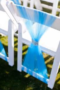 Wedding ceremony chair d 233 cor with tulle decoration trend