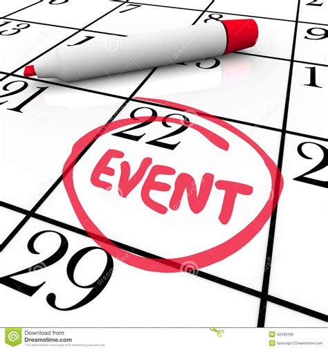 day event event word circled calendar date special day meeting