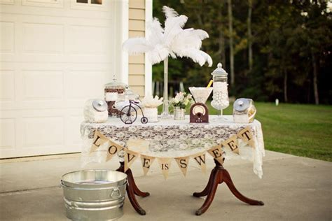 kara s ideas vintage backyard wedding table