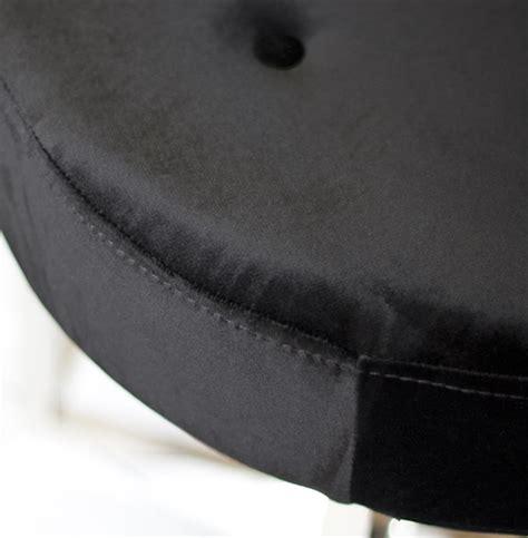 black velvet tufted ottoman charlize hollywood regency black velvet tufted nickel