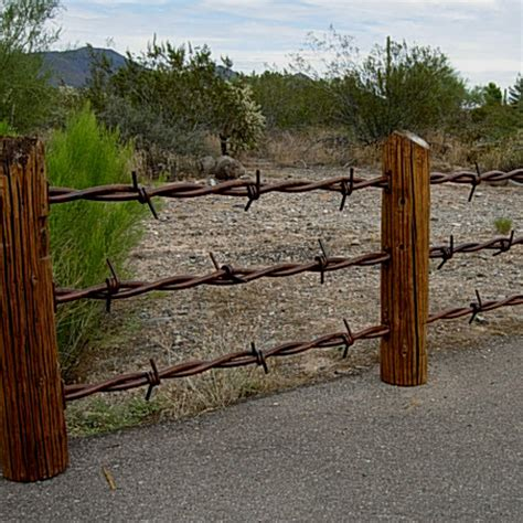 big fence big barb wire fence railing cave creek designs