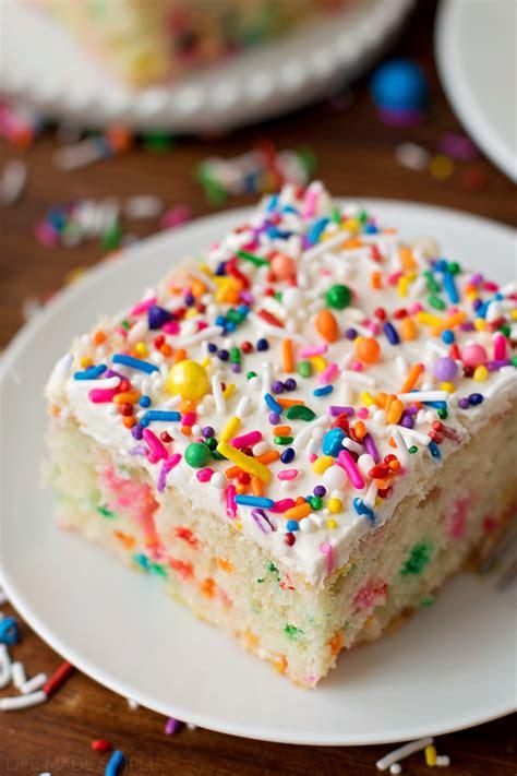 home made cake decorations homemade funfetti cake life made simple