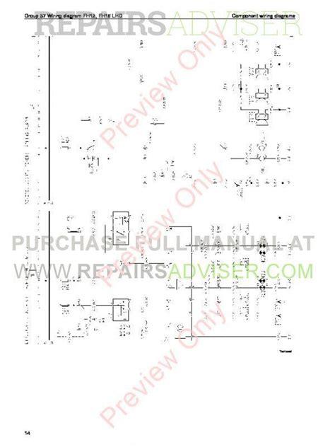 volvo trucks fm7 9 10 12 fh12 16 nh12 wiring diagrams