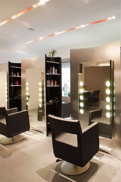 small ideas for hair salon interior design with recessed