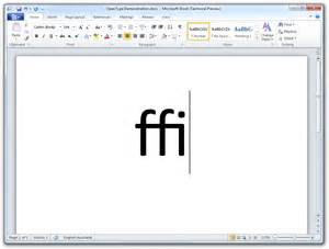 Microsoft Word 2010 How To Enable Opentype Ligatures In Word 2010