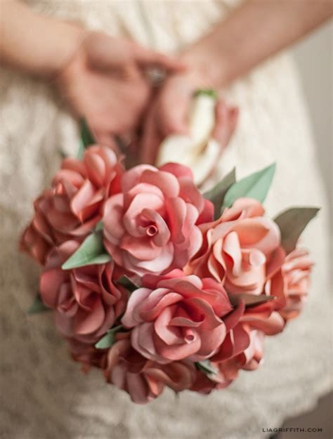 How To Make Paper Flower Bouquet For Wedding - paper wedding bouquet by lia griffith project