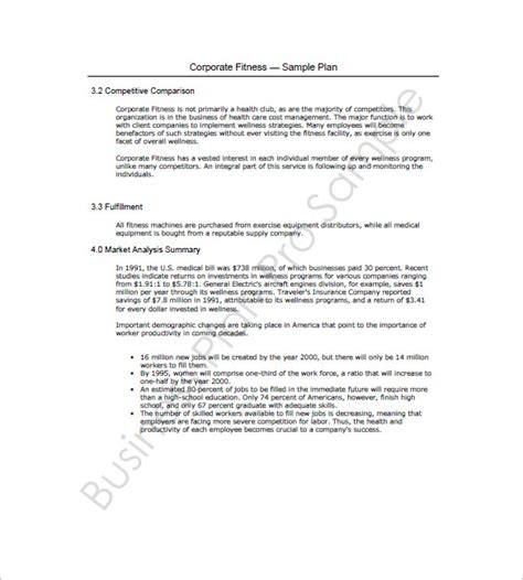 Corporate Business Plan Template business plan template 10 free word excel pdf