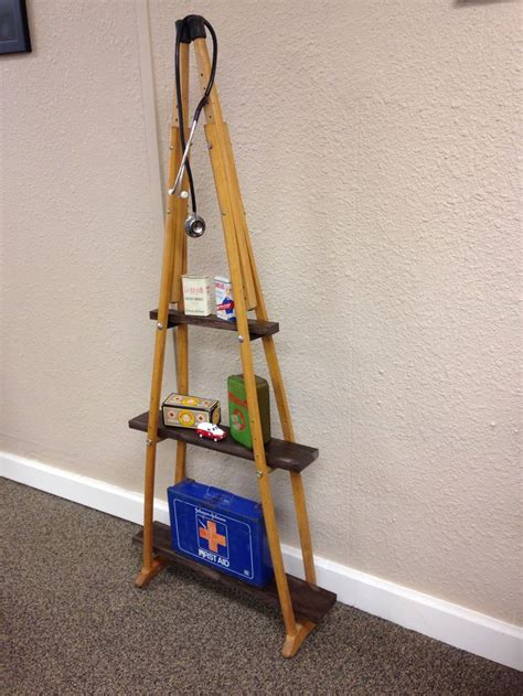 Shelf Made Out Of Crutches by 25 Best Ideas About Crutches Shelf On Reuse