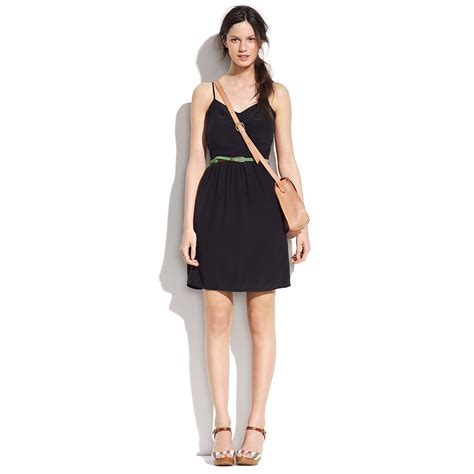Dress Of The Day Silk Cami Dress by Lyst Madewell Silk Cami Dress In Black