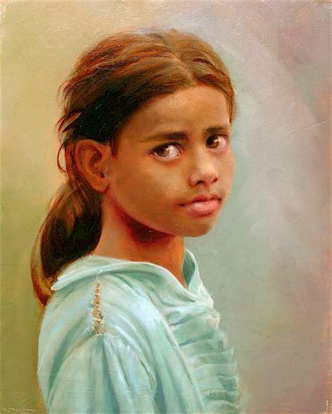 yng girl young girl new delhi india original oil by lynn lupetti