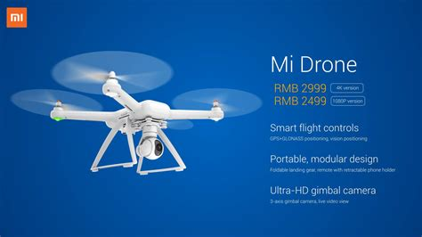 Drone Mi xiaomi announces mi drone a for the buck drone