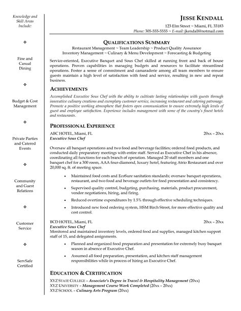 executive chef cover letter sample livecareer