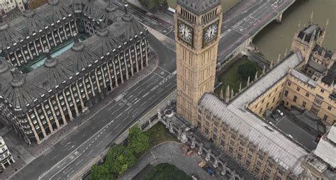 apple maps  animates london eye  big bens clock tower