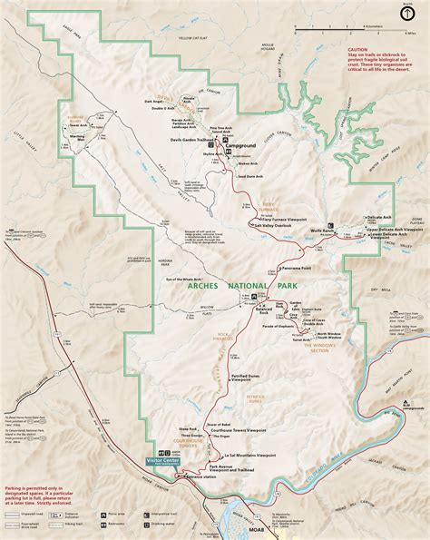 arches national park map arches maps npmaps just free maps period