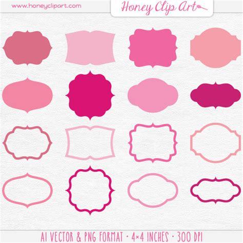 Fancy Pink Sticker Stiker Label Pengiriman fancy labels clip 43