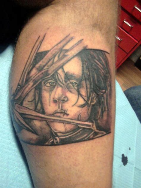 edward scissorhands tattoo edward scissorhands by dottcrudele on deviantart