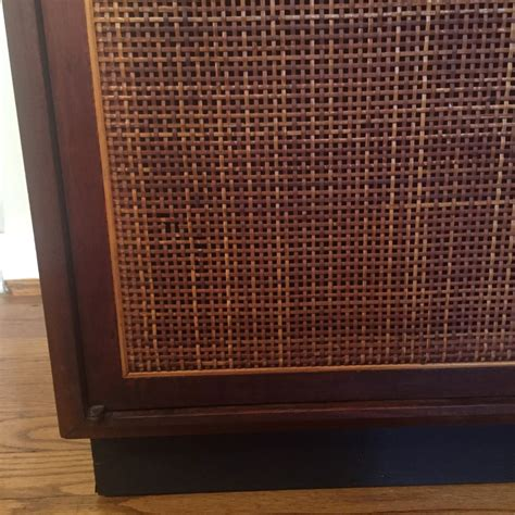 jb van sciver china cabinet mid century modern walnut turntable record storage