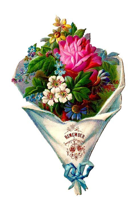 bouquet clipart antique images free flower clip die cut of