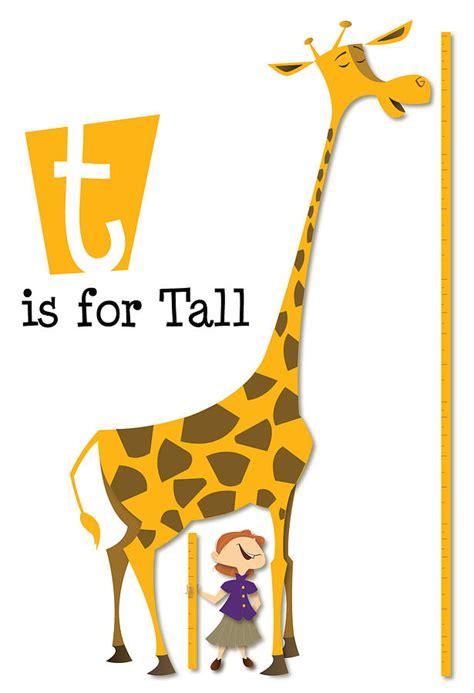 T Is For Tall   Giraffe Digital Art by Andrew Fling