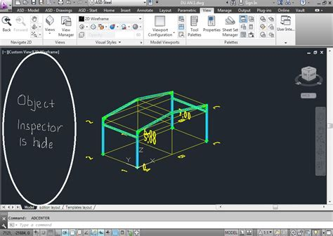 templates for autocad structural detailing solved object inspector tool is hided autodesk community
