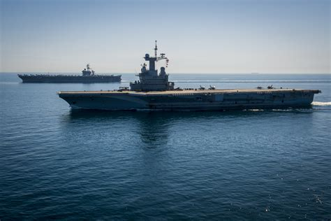 french carrier charles de gaulle bound  india