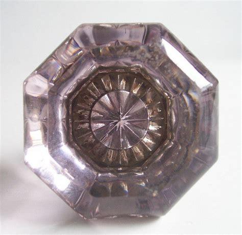 glass doorknob reserved for tristan glass door knobs vintage amethyst purple