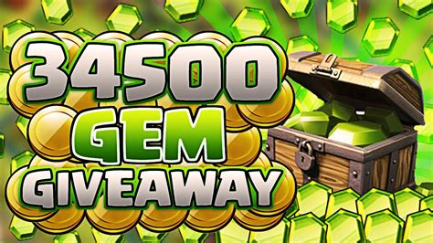 Clash Of Clans Giveaways - clash of clans huge 34 500 gem giveaway 250 easter giveaway youtube