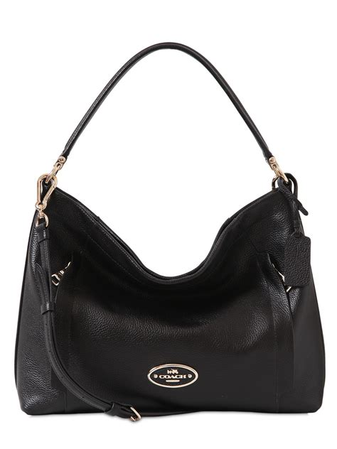 Coach Textured Leather Bag by Coach Scout Textured Leather Hobo Bag In Black Lyst