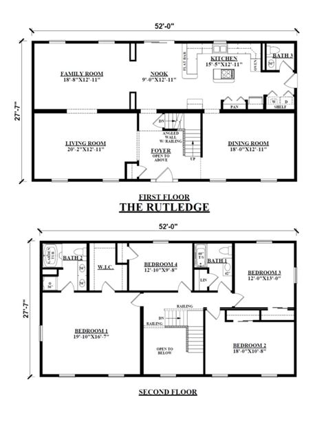 two story mobile home floor plans two story floor plans