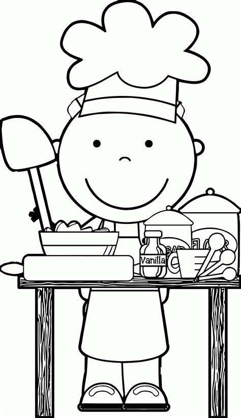 cooking coloring page coloring home