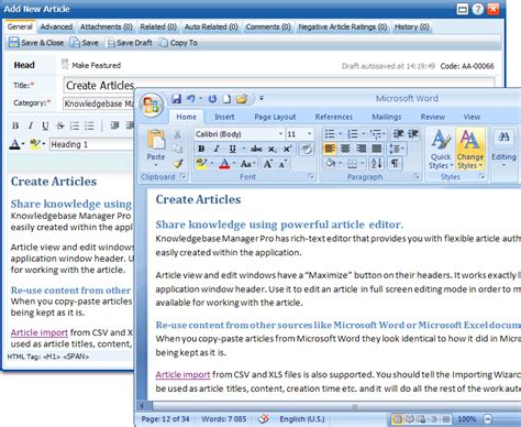 Microsoft Word Editor Create Articles Anywhere