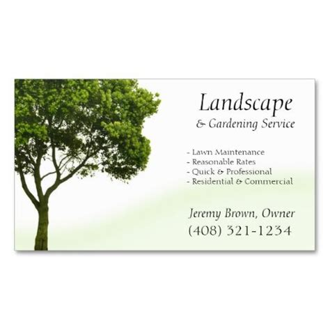 gardening business cards templates 137 best images about landscaping business cards on