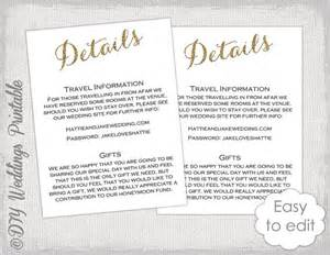 information card template wedding information card template