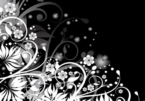 design art black and white abstract black white floral design canvas art buy abstract