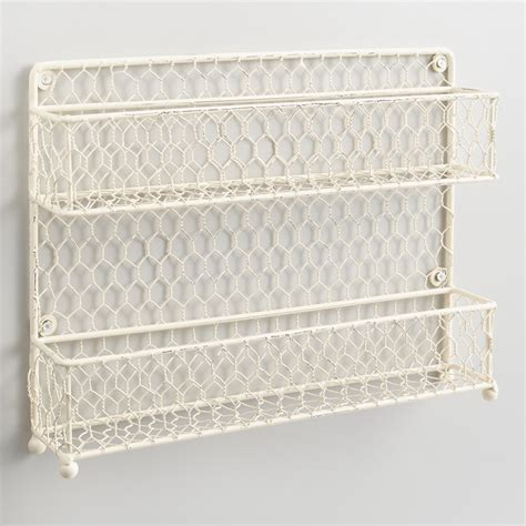 Wire Spice Racks antique white wire two tier spice rack world market