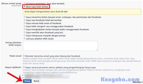 cara menghapus akun facebook secara permanen ciricara tekno cara terbaru menghapus akun facebook permanen sementara di