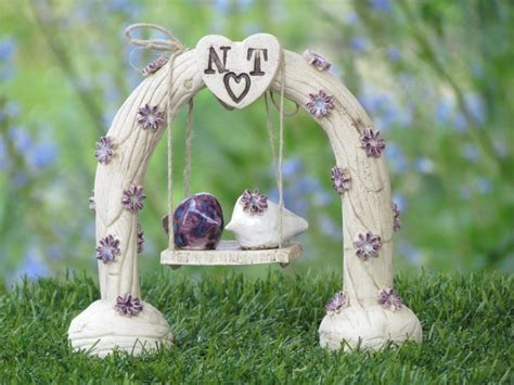 Custom Wedding Cake Topper Ceremony Love Birds Wedding