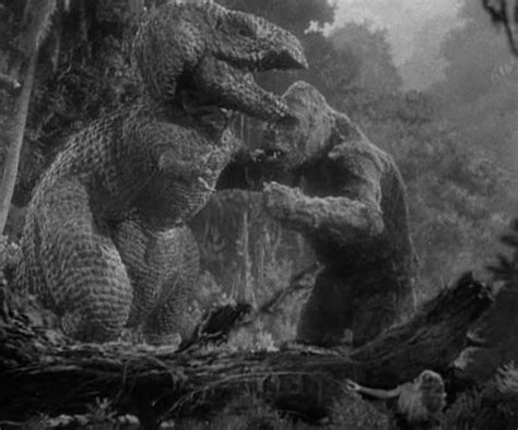film king kong vs dinosaurus king kong 1933 fight scene with the t rex is a classic