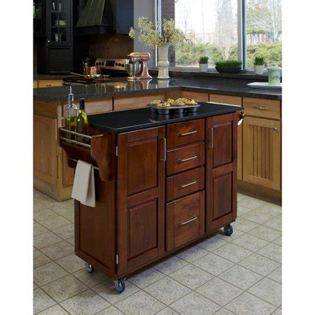 Walmart Kitchen Cart Granite by Home Styles Large Kitchen Cart Cottage Oak Black