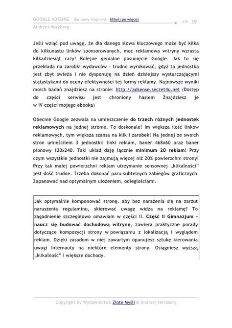 adsense zaloguj andrzej herzberg google adsense pobierz darmowy ebook pdf