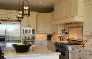 Antique White Cabinets With White Appliances by Antique White Kitchen Cabinets With Island Awesome